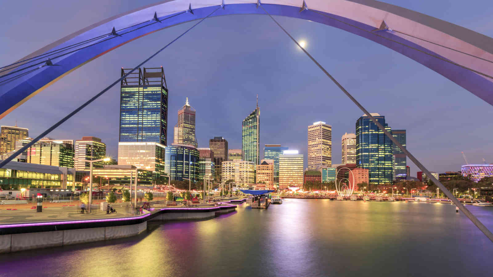 Elizabeth Quay Perth Framed By Bridge 000086754259 Double