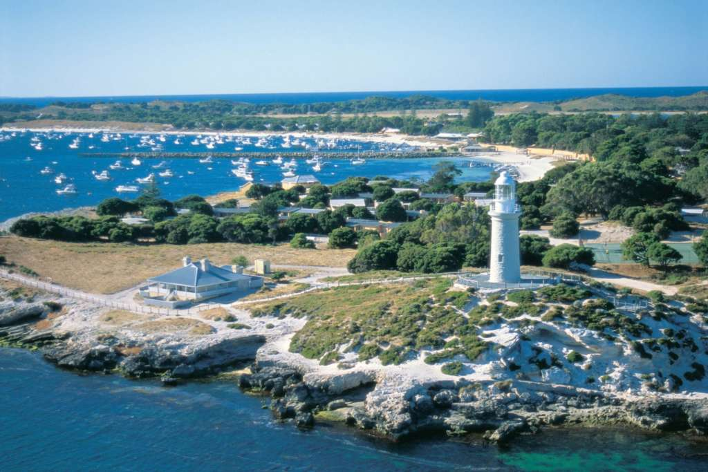 Rottnest Is Twa Bathurst Lighthouse And Thomson Bay Rottnest Island