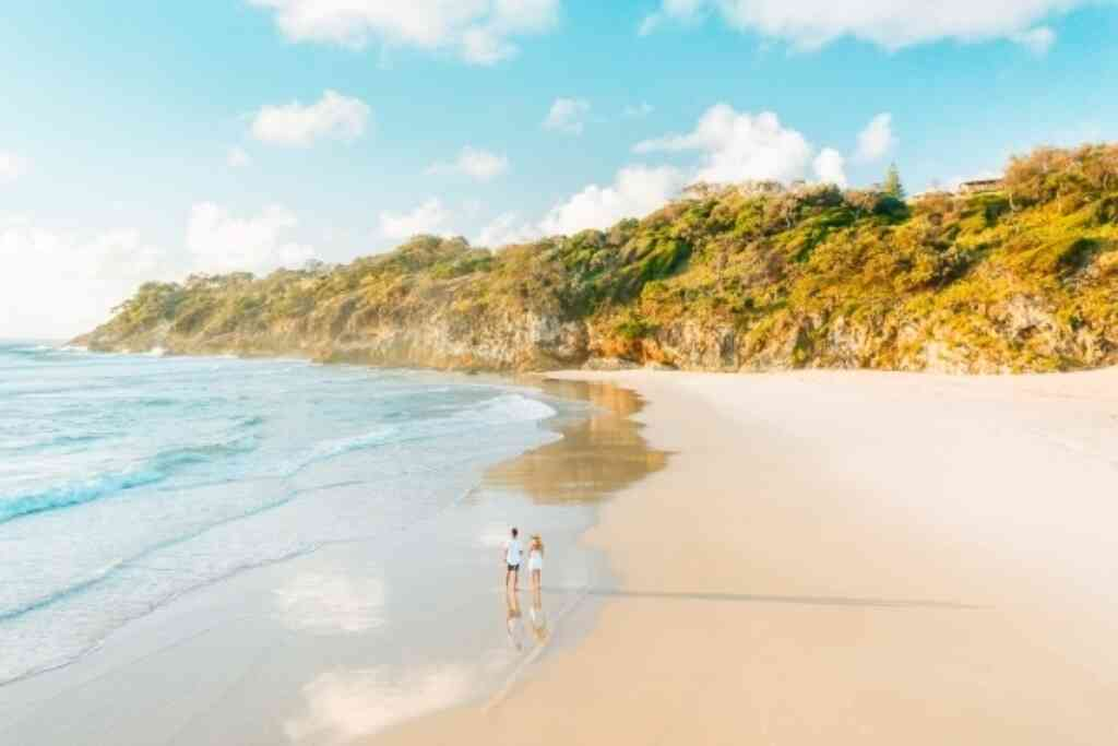 Straddie Couple On Beach