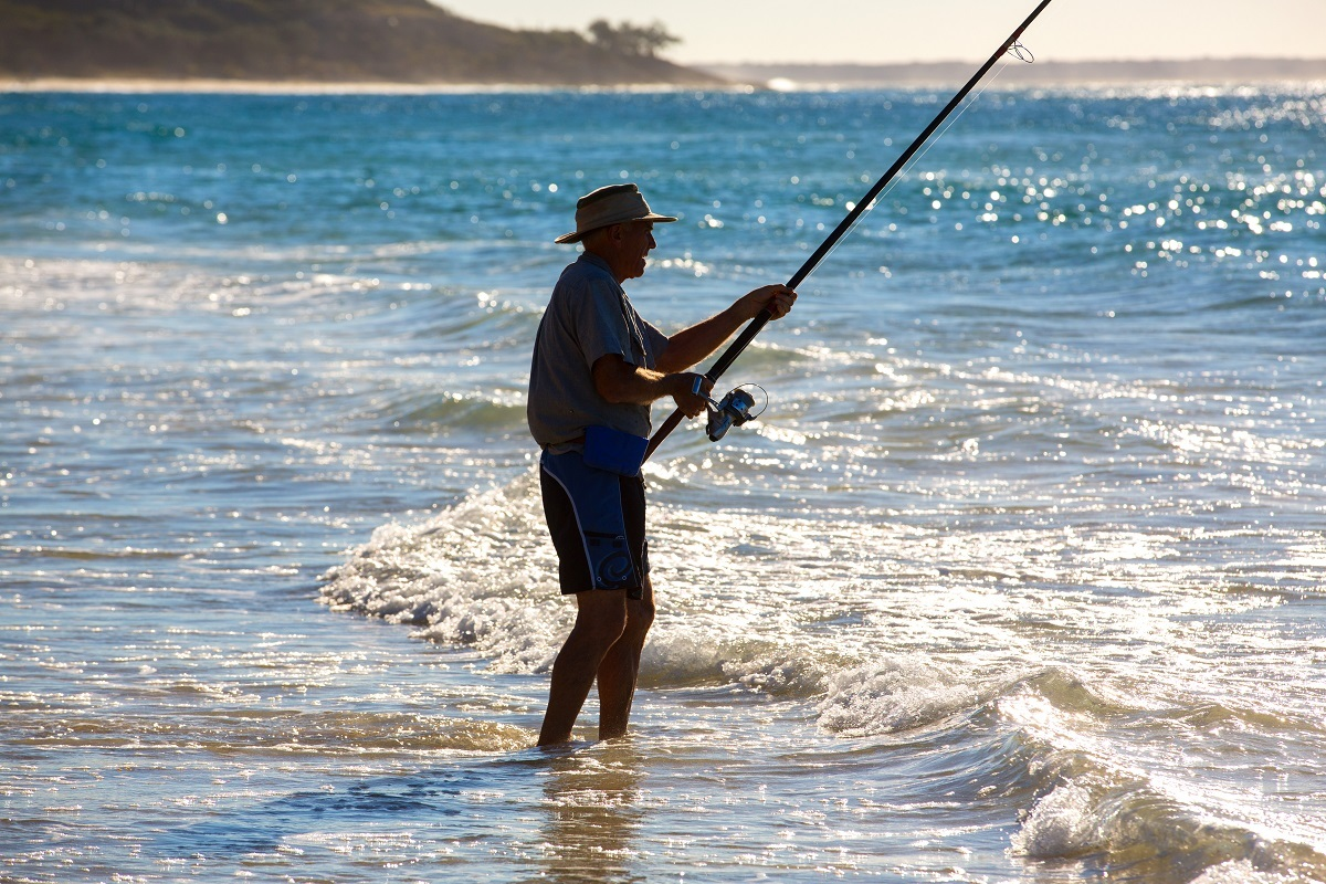 Beach fishing tour stradbroke ferries for Point lookout fishing report
